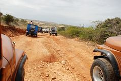 Jeep Off-road tour on Isla Margarita Stock Image
