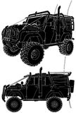 Jeep Offroad Car Vector 04 Stock Image