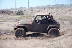 Jeep Offroad Race. Jeep in an Offroad Race Royalty Free Stock Photography