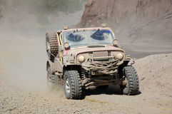 Jeep Offroad Race. Jeep in an Offroad Race Stock Photography