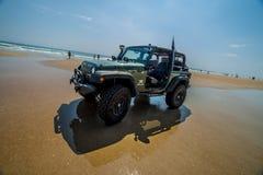 Free Jeep On The Beach Stock Photos - 86404353