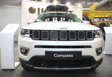 Jeep på den Belgrade Car Show Fotografering för Bildbyråer