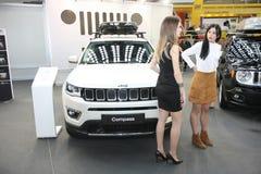 Jeep på den Belgrade Car Show Royaltyfri Foto