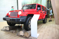 Jeep på den Belgrade Car Show Royaltyfri Foto