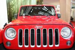 Jeep på den Belgrade Car Show Royaltyfri Fotografi