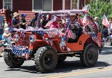 Jeep patriótico Imagen de archivo libre de regalías