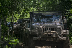 Jeep-RAM-Team Wrangler-Rennschlamm Lizenzfreie Stockfotografie