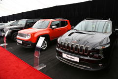 Jeep Renegade and Cherokee Stock Image