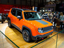 Jeep Renegade Geneva 2014 Stock Photo