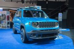 Jeep Renegade Riptide 2015 op vertoning Stock Fotografie
