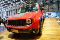 Jeep Renegade, Salon de l'Automobile Geneve 2015 images libres de droits