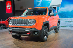 Jeep Renegade Trailhawk 2015 on display royalty free stock image