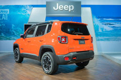 Jeep Renegade Trailhawk 2015 op vertoning Royalty-vrije Stock Fotografie