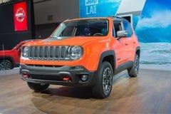 Jeep Renegade Trailhawk 2015 op vertoning Royalty-vrije Stock Afbeelding