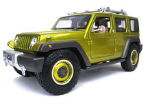Jeep Rescue Concept. Maisto Premiere Edition 1:18 scale diecast, left front view. low angle Stock Image