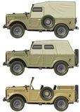 Jeep retro del vector Imagen de archivo