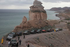 Jeep Roadtrip. @ La Paz Baja California Sur Royalty Free Stock Photo