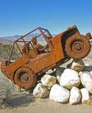Jeep Rock Climber - Metal Sculpture Royalty Free Stock Image