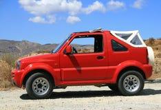 Jeep rojo Imagen de archivo libre de regalías