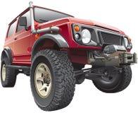 Jeep rojo de la reunión Imagen de archivo
