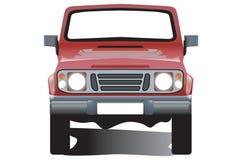 Jeep rossa Fotografia Stock Libera da Diritti