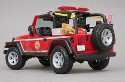 Jeep Rubicon Brush Fire Unit Stock Photos