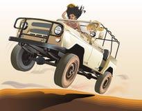 Jeep ruso stock de ilustración