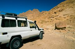 Jeep safari. At Sinai desert, Egypt Royalty Free Stock Images