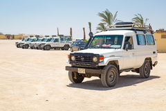 Jeep safari on the desert near Hurghada. On 16 April 2013. Desert safari is one of the main local tourist attraction in Egypt stock image