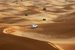Jeep safari in the sand dunes Stock Photos