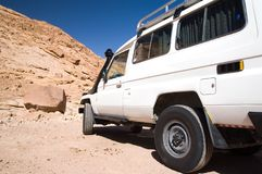 Jeep safari at Sinai desert. Jeep safari at the Sinai desert, Egypt stock photography