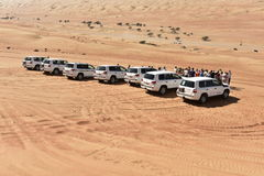 Jeep Safari in the Wahiba Desert Stock Images