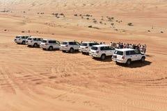Jeep Safari in the Wahiba Desert Stock Images