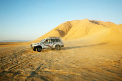 Jeep in Sahara Stock Image
