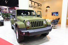 Jeep Sahara Wrangler Unlimited car on display Stock Images