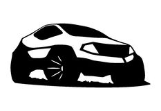 Jeep silhouette vector. Front view Royalty Free Stock Photo