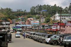 Jeep Stand in Spice Market Area, Munnar Royalty Free Stock Photography