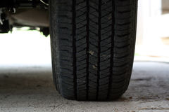 Jeep tire. Close-up of jeep tire Stock Photography
