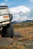 On jeep to vulcan Stock Photography