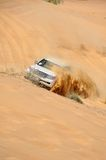 Jeep tour in the desert in Dubai Royalty Free Stock Photo