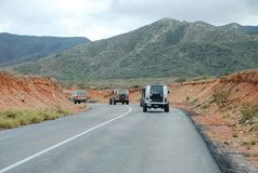 Jeep tour on road on Isla Margarita Stock Image