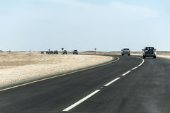 Jeep Tour safari road in the desert Oman Salalah 8 stock photo