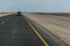 Jeep Tour safari road in the desert Oman Salalah 7 stock image