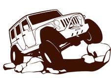 Jeep tous terrains illustration libre de droits