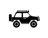 Jeep travel icon on white background Stock Image