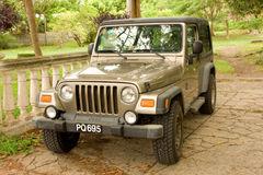A jeep in the tropics Royalty Free Stock Image