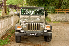 A jeep in the tropics Stock Image
