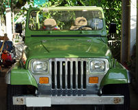 A jeep in the tropics Royalty Free Stock Images