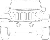 Jeep Truck Outline royalty free illustration