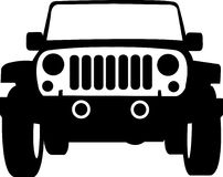 Jeep Truck Outline. Jeep vector illustration of a car
